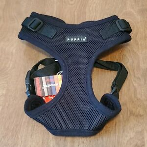 Puppia Soft Ritefit Dog Harness No Choke Over-The-Head Breathable Black Large