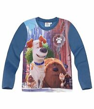 Boys Kids Official Licensed Disney Various Character Long Sleeve T Tee Shirt Top Secret Life of Pets #1 3 - 4 Years