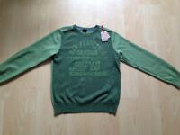 Esprit Pullover Gr. 152 M Bio Baumwolle grün