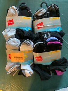 women's socks Hanes Lightweight No Show 12 PAIRS Comfort Heel Shoe size 5-9