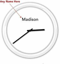 Minimalist Modern PERSONALIZED Wall Clock - Bedroom Office Home Decor GREAT GIFT