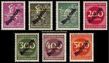 EBS Germany 1923 Inflation Official set Dienstmarken Michel D75-D81 MNH**