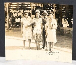 1940's Manager of  Atlanta Linen Service Baseball Team with Unknown Females