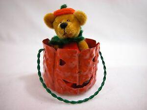 "World of Miniature Bears By Theresa Yang 2.75"" Velvet Bear Punkin #867 CLOSING"
