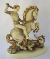 M I Hummel Goebel SAINT GEORGE AND THE DRAGON Porcelain Figurine Germany Mold 55