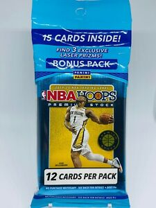 2019-20 Panini NBA Hoops Premium Stock Cello Pack Brand New Factory Sealed