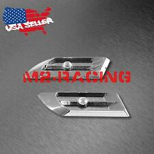 Universal ABS Silver Crystal Air Fender Grill Body Side Vents Car SUV Decoration