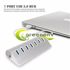 New USB 3.0 Hi-Speed 7 Port Multi Hub Expansion Splitter For PC Laptop Notebook
