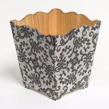 Pizzo Nero Carta Straccia Bin in legno fatto a mano