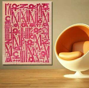 Retna Canvas Print, Beige/Pink, 28x42, New