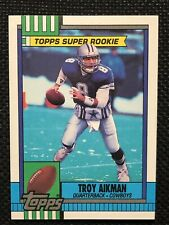 1990 Topps Football Troy Aikman 2 Card Rookie Lot