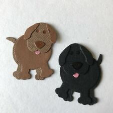 'Labrador' or 'Spaniel' Puppy Puppies Dog Litter Card Toppers Die Cuts