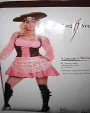 SS4U Pink & Brown Pirate Wench Corset Dress Costume Set S/M