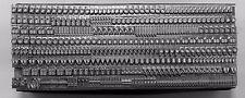 12 point GILL SANS LIGHT Lowercase Letterpress Metal Printing Type