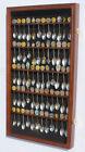 60 Spoons Spoon Display Case Cabinet Rack Shadow Box Wall Rack LOCKABLE SP02-WAL