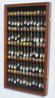 60 Spoons Spoon Display Case Cabinet Rack Shadow Box Wall Rack LOCKABLE SP02-WAL