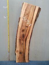 Waney Edge Live Edge Walnut Slab Board Kiln Dried Hardwood 1240 x 290-380 x 50mm