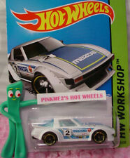 Case F 2015 Hot Wheels MAZDA RX-7 #193 US☆White;Blue; 2 ☆Speed Team