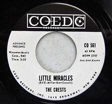 The Crests  Little Miracles  Coed WLP  w Special DJ Sleeve 45rpm VG++