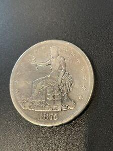 1875-S Seated Liberty Silver Trade Dollar San Fransisco