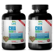 Chia Seeds Bulk - Chia Seed Oil 2000mg - Fat Burner For Men Capsules 2B