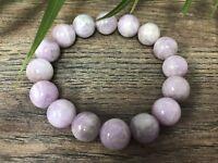 Kunzite Bracelet Stretchy Gemstone Crystal Therapy Stone Reiki Chakra Wicca.