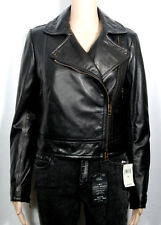 Coach Women's Leather Moto Motorcycle Jacket Black NWT $995.00 85331