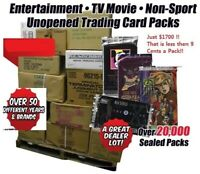 50 Case Non Sports,TV Movie,Comic,Sci-Fi Trading Card Box Full Pallet Deal SALE