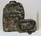 Camouflage Backpack Brown Tree Zippers Hunting Camping Matching Dopp Kit 2pcSet