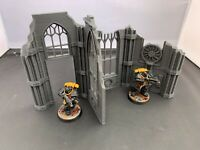 Large Gothic Ruined Building Scenery Scatter Terrain for 28mm Miniature Wargames