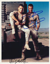 JEAN CLAUDE VAN DAMME & DOLPH LUNDGREN SIGNED UNIVERSAL SOLDIER PHOTO