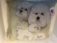 Bichon Frise Pillow Afghan Throw Pillow Chihuahua  Dog Pillow