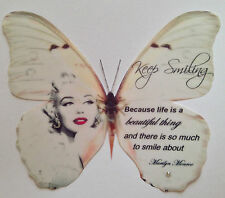 Marilyn Monroe Red Lipstick Quote Print Butterfly 3D Wall Decal Hand Made Gift