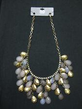 "Fashion Statement Necklace - 25"" -  Teardrops 1"" - Goldtone-BKE Buckle"