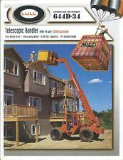 Fork Lift Truck Brochure - Lull - 644D-34 - Telescopic Handler - 1998 (Lt505)
