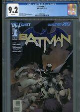 Batman #1  New 52 (1st print)  CGC 9.2  White Pages