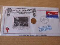 NUMISBRIEF  Frankreich 1989 mit Medaille   Nr. 098026