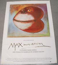 Affiche de cinéma : MAX MON AMOUR de NAGISA OSHIMA