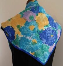 Satin Floral Scarves for Women
