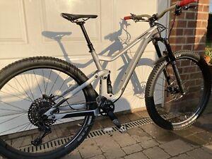 Scott Genius 940 Mens Mountain Bike 2019 Silver Medium Fox SRAM Syncros Renthal