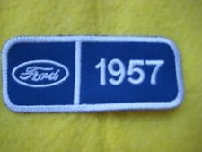 "Ford 1957 Fairlane Wagon  Truck Service Dealer Uniform Hat Patch 4 ""X 1 5/8"""