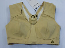 Kinflyte Women's Max Support Midi Luxe Freedom Bra CL8 Champagne Muse Large NWT