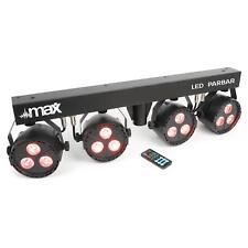 max LED PAR Bar Set 4 LED 6 Kanal DMX RGBW T-Balken Stahlstativ Fernbedienung