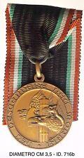 """Fascismo Verona M.V.S.N. 24a Legione Ferroviaria La Sentinella medaglia """"716b�"""