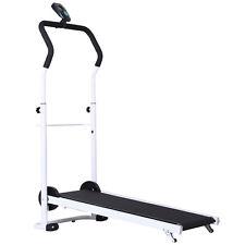 Home Gym Manual Treadmill Walking Fitness Equipment Foldable w/ Wheels