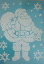 Fensterbild Deko Aufkleber selbstklebend Weihnachtsmann 49x69 cm Schneesticker