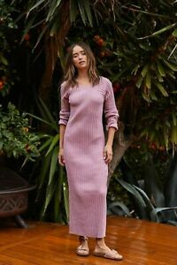 Free People Walk About Maxi Dress Size M Easy Laid Back Casual Designer New