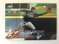 RONALD ACUNA Jr 2018 Topps Chrome Update Rookie Card RC - #HMT31
