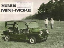 Morris mini moke 1966-68 uk market sales brochure