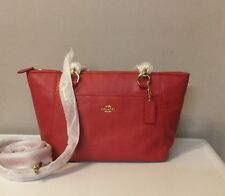 Coach Mini Ellis Tote In Pebble Leather Red In Colour BNWT